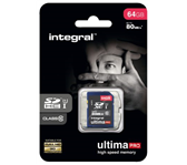 GEHEUGENKAART INTEGRAL SDHC 64GB ULTIMAPRO CL10