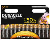 BATTERIJ DURACELL AA PLUS POWER 50% ALKALINE