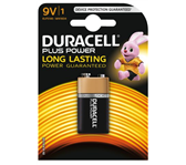 BATTERIJ DURACELL 9V PLUS POWER 50% ALKALINE