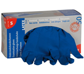 HANDSCHOEN WILTEC LATEX HIGH RISK S BLAUW