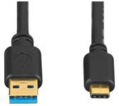KABEL HAMA USB 3.1 A-C 0.75M ZWART