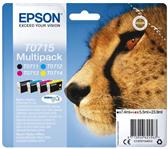 INKCARTRIDGE EPSON T0715 ZWART + 3 KLEUREN