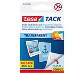 KLEEFPAD TESA TACK TRANSPARANT 200 STUKS