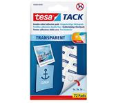 KLEEFPAD TESA TACK TRANSPARANT 72 STUKS