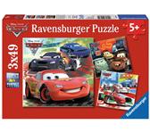 PUZZEL RAVENSBURGER CARS WERELDWIJDE RACE 3X 49ST