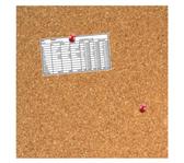 KURKBORD DESQ 35X35CM RANDLOOS + PUSH PINS