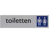 INFOBORD PICTOGRAM TOILETTEN D/H 165X44MM