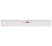 LINIAAL M&R 1120/000 PLASTIC 20CM TRANSPARANT