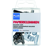 PAPIERKLEM BULLDOG PLUS OFFICE 20MM ASSORTI