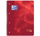 PROJECTBOEK OXFORD A4+ 4R RUIT 120VEL ROOD