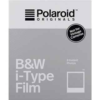 FILM POLAROID ORIGINALS ZW/WIT INSTANT FILM I-TYPE
