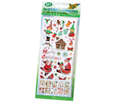 STICKER FOLIA GLITTER KERSTMIS