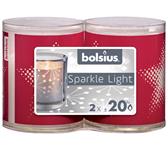 KAARS BOLSIUS SPARKLE LIGHT STER ROOD