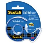 PLAKBAND 3M SCOTCH 19MMX16.5M MET TAPEHOUDER WALL SAFE