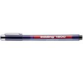 FINELINER EDDING 1800 0.25MM ZWART
