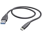 KABEL HAMA USB A-C 1.5M ZWART