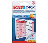 KLEEFPAD TESA TACK XL TRANSPARANT 36 STUKS