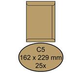 ENVELOP CLEVERMAIL AKTE C5 162X229 80GR 25ST BRUIN