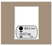 DRAADRUG GBC 9.5MM 34RINGS A4 ZWART