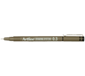 FINELINER ARTLINE 0.3MM ZWART