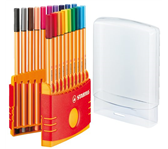 FINELINER STABILO POINT 88 COLORPARADE-ETUI ASS