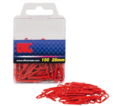 PAPERCLIP OIC 28MM GELAMINEERD ROOD