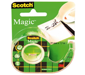 PLAKBAND 3M SCOTCH 19MMX7.5M MET TAPEHOUDER MAGIC