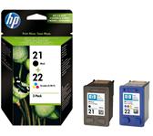 INKCARTRIDGE HP 21 22 SD367AE ZWART KLEUR