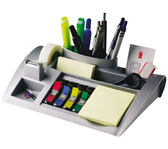 BUREAU ORGANIZER 3M POST-IT C50 ZILVER